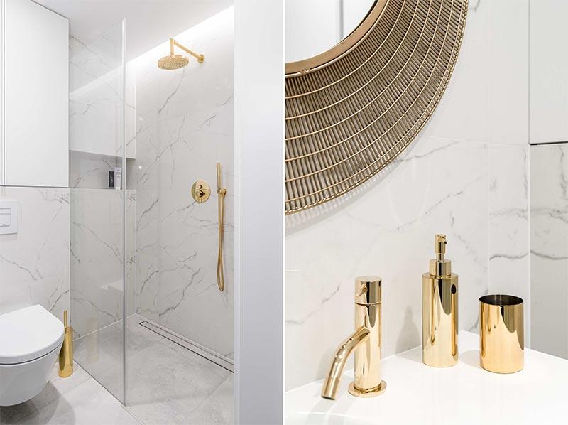 decoración con mármol en baños
